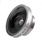Universal Aluminum Alloy Super Wide 0.4X Mobile Phone Lens - Silver