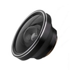 Universal Aluminum Alloy Super Wide 0.4X Mobile Phone Lens - Black