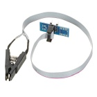 SOIC8 SOP8 Universal Narrow-body / Wide-body IC Clip / Testing Clip w/ Welded Ribbon Cable