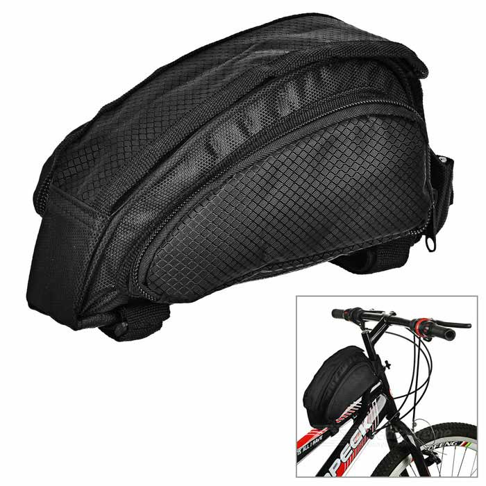 B-SOUL Cycling Extensible Water-Resistant Bike Top Tube Bag - Black
