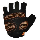 MOke Sweat-Absorbing Polyester Half-Finger Gloves - Orange (XL)