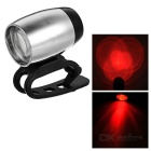2-Mode 35lm Red Light 3-LED Bike Light w/ Clip (2 x CR2032)