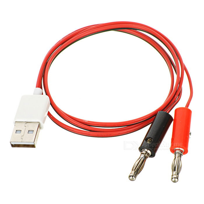 DIY USB 2.0 Male to 4.0 Banana Plug Test Cable - Black + Red + WhiteDIY Parts &amp; Components<br>Quantity1 DX.PCM.Model.AttributeModel.UnitForm ColorBlack + Red + WhiteMaterialPlastic + copper wireEnglish Manual / SpecNoCertificationN/APacking List1 x Test cable (80cm)<br>