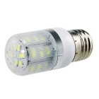 E27 7W 630lm 24-5730 SMD 6000K White LED Corn Light w/ Stripes Cover (AC 200-240V)