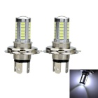 Marsing H4 17W LED Car Front Fog Lamp Bulb White Light 6500K 1000lm 33-SMD 5730 (12~24V / 2pcs)