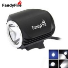 FandyFire Outdoor T6 3-Mode Cool White LED Headlight for Mountain Biking - Black (6 x 18650)