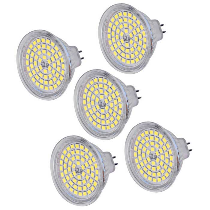 MR16 (GU5.3) 5W LED Spot Bombilla blanco fresco 450lm 60-SMD (5PCS)