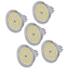 MR16 (GU5.3) 5W LED Spot Bulb Light White 6000K 450lm 60-2835 SMD (AC / DC 12V / 5 PCS)