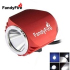 FandyFire Outdoor T6 3-Mode Cool White LED Headlight for Mountain Biking - Red (6 x 18650)