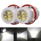 MZ 60W Angel Eyes XT-E DRL / Marker / Headlight White 6500K 3000lm for BMW E39 (8~30V / 2 PCS)