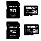 Kingmax Class 10 16GB Micro SD SDHC / TF Memory Card w/ Card Adapter - Black (2 PCS)