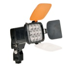 LED-VL012 27W 4500 lux 3200K / 5500K Luz de video de 10 LEDs - negro