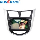 "Rungrace RL-499WGIR02 7"" 2 Din In-Dash Car DVD Player for Hyundai Verna w/ BT, GPS, RDS"