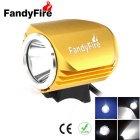 FandyFire Outdoor T6 3-Mode Cool White LED Headlight for Mountain Biking - Gold (6 x 18650)