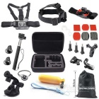 24-in-1 Hot Sports Camera Accessories Kit for GoPro Hero Series Camera - Black