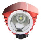 FandyFire 3-Mode Cold White LED Headlight for Mountain Bike - Red