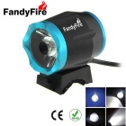FandyFire Outdoor T6 8-Mode Cool White LED Headlight for Mountain Biking - Black + Blue (6 x 18650)