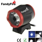 FandyFire Outdoors T6 8-Mode Cold White Light 900lm Bike Bicycle Headlamps - Black + Red(6 x 18650)