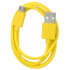 USB 2.0 M to Micro5pin M Data Cable for Samsung, HTC - Yellow (1m)