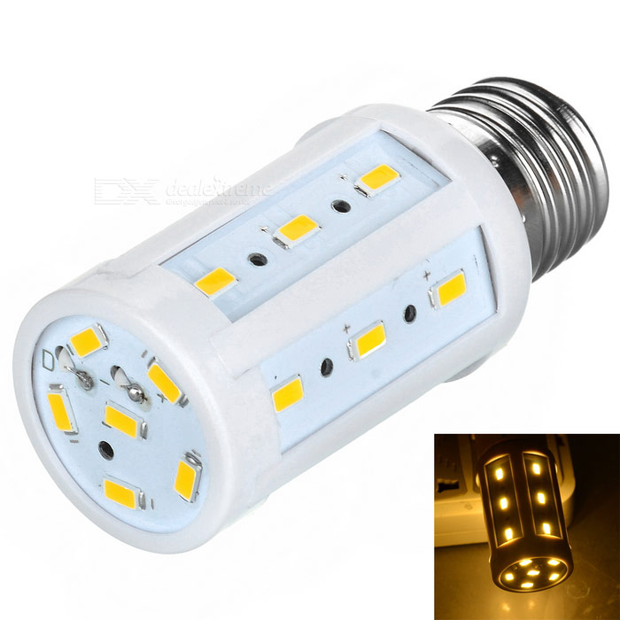 E27 5W LED-lamp lamp warm wit licht 3000K 250LM 24-SMD - wit