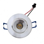 Wired 1W LED Spotlight Bulb Lamp Warm White Light 3500K 40lm w/ LED Driver - Silver (AC 85~265V)