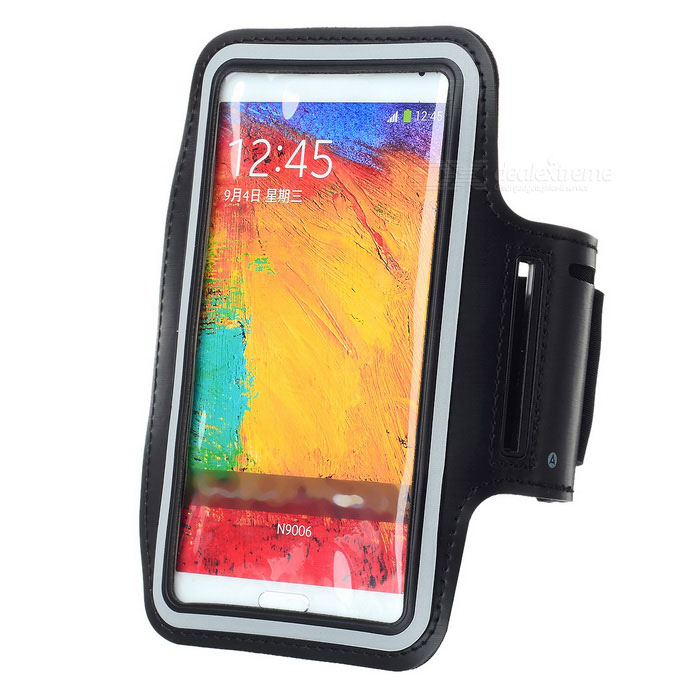 Protective Neoprene Armband for Samsung Note 2 / Note 3 - Black