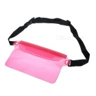 Universal Waterproof Case w/ Adjustable Strap for Cellphone - Pink