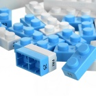 DIY Environmental Building Block Desktop Calendar - White + Blue