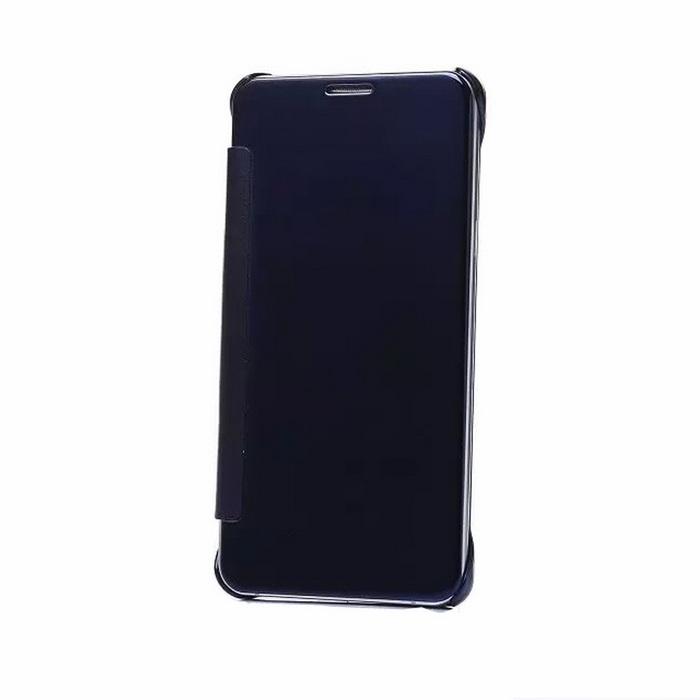 Protective PU Back Case for Samsung S6 Edge Plus - Navy Blue