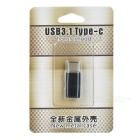 USB 3.1 Type -C to Micro 5Pin Data Sync / Charging Adapter - Black