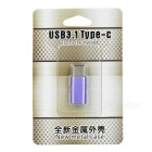 USB 3.1 Type-C to Micro USB Data Charging Adapter - Light Purple