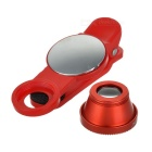 S-What Wide Angle + Fish Eye + Macro Camera Lenses Kit - Red