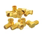 Male to Female Right Angle Adapter - Golden (10PCS)