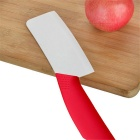 "Zirconia Ceramic Kitchen 6.5"" Chopping Knife - Red + White"