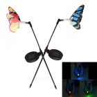 Rechargeable Solar Optical Fiber Sensor Butterfly Style RGB LED Garden Decorative Light