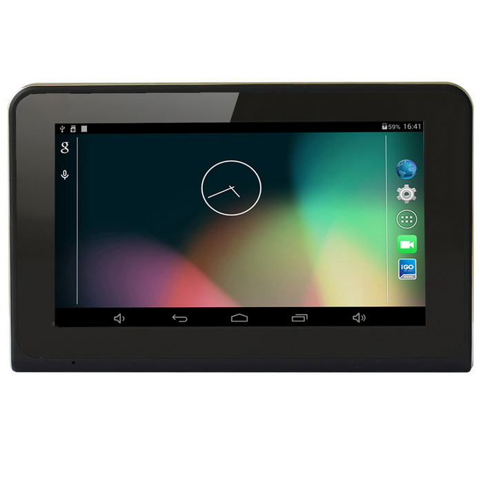 "U-маршрут 7"" Android 4.0 GPS автомобиля DVR WIFI 16GB EU карта- черный - черный"