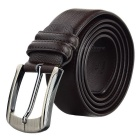 Fashion Classical Pattern Split Leather Waist Band Belt for Men - Coffee