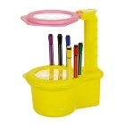 Painting Projector + Pastel Pencil Set for Children - Light Yellow + Red + Multicolor