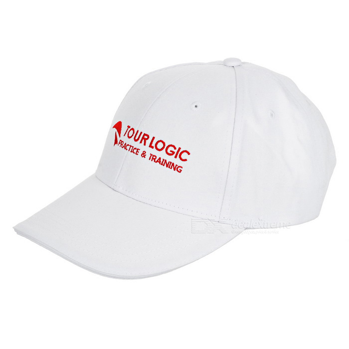 "TOURLOGIC gorra de golf unisex de 4"" - blanco"