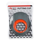 TOURLOGIC caucho golf putting cup - gris + naranja