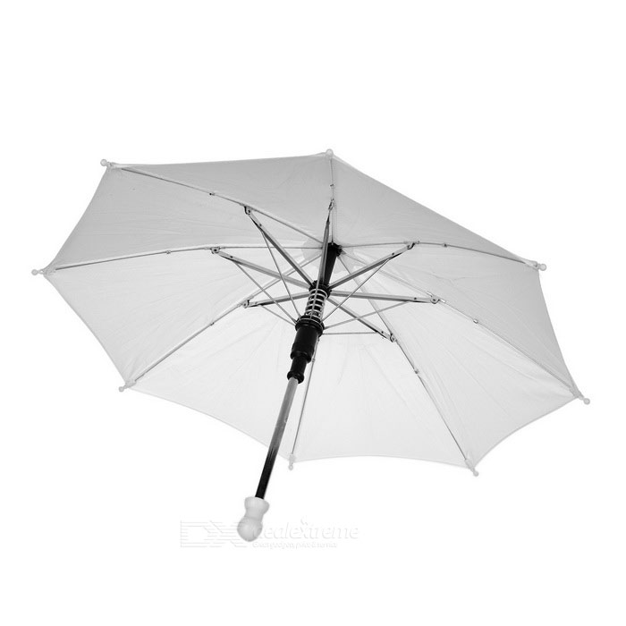 Small Umbrella Stage Magic Prop - WhiteMagic Supplies<br>Form ColorWhiteMaterialWater resistant cloth + ABSQuantity1 DX.PCM.Model.AttributeModel.UnitSuitable Age 12-15 years,Grown upsPacking List1 x Umbrella1 x Umbrella ring<br>