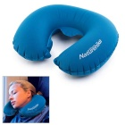 NatureHike U-Shaped Inflatable Neck Air Cushion Pillow for Outdoor Travel / Nap - Blue