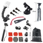 Jaws Flex Clamp Mount Kit + Octopus Tripod + More for Gopro Hero Series & Other Sports Camera