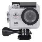 "WIFI 2"" 12MP 4K Waterproof Action Camera w/ 170° Fish-eye Lens -Silver"