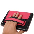 Toothpick Grain Protective Case w/ Stand for IPAD MINI - Deep Pink
