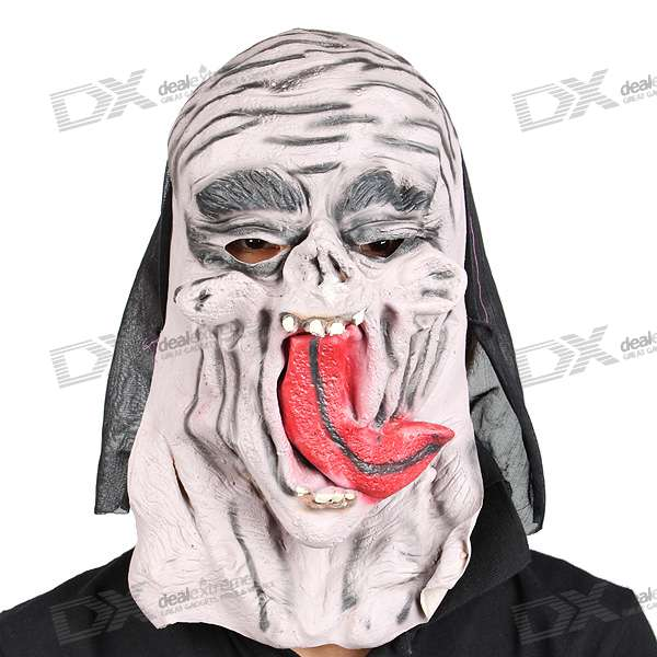 Halloween Scary Devil Mask With Long Tongue