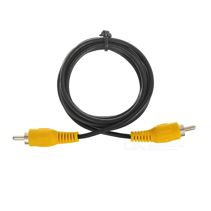 RCA Male to Male Nickel-plated AV Connection Cable - Black (151.5cm)