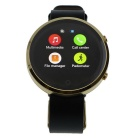 "BT 360 1.22"" IPS Smart Bluetooth Watch w/ SIM TF for IOS / Android Phones - Black + Gold"
