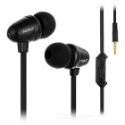 KEEKA 3.5mm Plug Wired In-Ear Earphone w/ Mic / Remote - Black