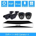 SZSINOCAM 4CH 720P AHD DVR Kit w/ 4 x 1.0MP 720P Bullet Cameras, Support APP (US Plug)